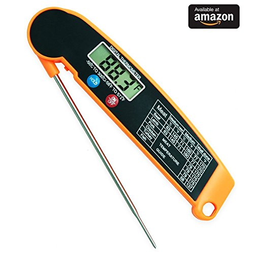 Instant Read Thermometer, LNSLNM Digital Meat Thermometer ...