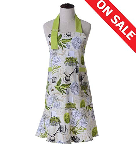 ace9366a32 2 matching pocket aprons for home or business use. The adjustable neckline  and two long ties are easy for you to fit in perfectly. 3.