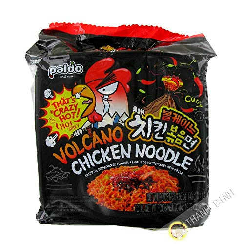 Take on the samyang Spicy Challenge to both 2x & Mala. Volcano chicken noodle 140g 4 pack 10 packs of samyang ramen: 5pk of each Samyang 2x Spicy & Mala ...