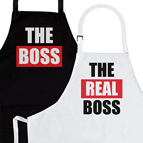 Wedding Gift For Boss: 2-Piece Kitchen Apron Set